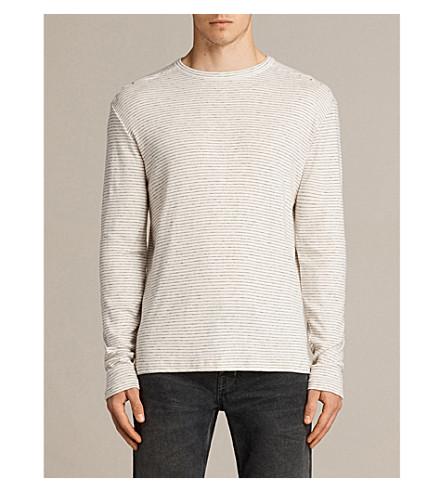 ALLSAINTS Allcott marl-striped cortton-jersey top (Ercu+chalk/bla