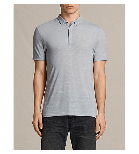 ALLSAINTS Stanley jersey polo shirt (Storm+blue