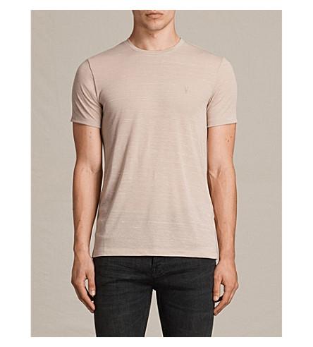 ALLSAINTS Stanley jersey T-shirt (Oat+pink