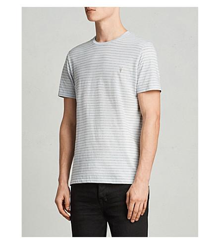 jersey blanco de Spatium azul de rayas ALLSAINTS algodón azul Camiseta con 6BEq4