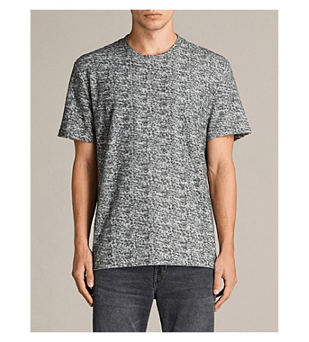 ALLSAINTS Etham cotton-blend T-shirt (Charcoal+mouli