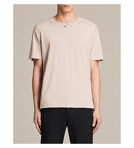 ALLSAINTS Jefris cotton-jersey T-shirt (Oat+pink