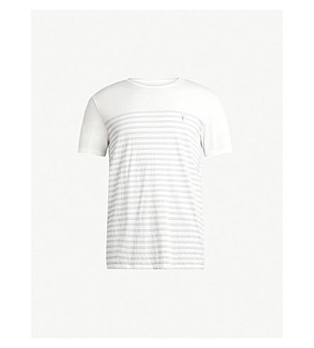 ALLSAINTS 条纹图案棉 T 恤 (黑色/蓝色/