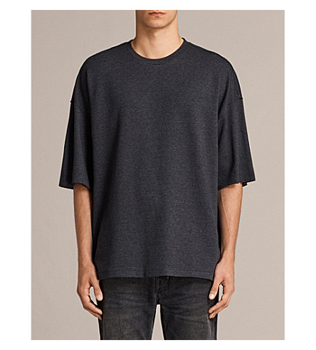 ALLSAINTS Torny cotton-jersey T-shirt (Cinder+marl/bl