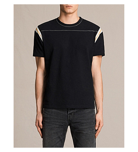 ALLSAINTS Cliffon cotton-jersey T-shirt (Jet+black