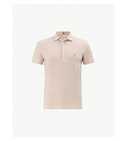 ALLSAINTS Grail cotton-jersey polo shirt (Bleach+pink