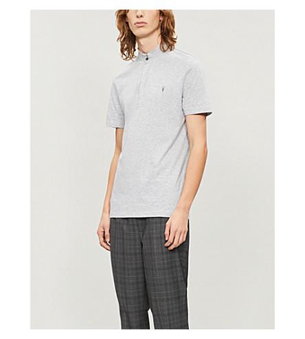 ALLSAINTS Grail cotton polo shirt (Grey+marl