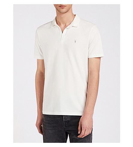 cotton Ossage ALLSAINTS shirt ALLSAINTS white polo Ossage jersey Chalk cotton IqTPwFS