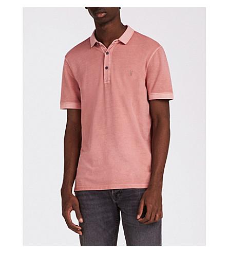 ALLSAINTS Atom cotton-piqué polo shirt (Crepe+pink