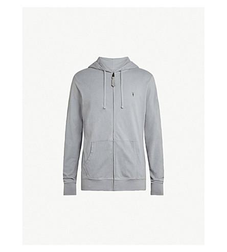 ALLSAINTS Ossage 平纹针织棉帽衫 (度假村 + 灰色
