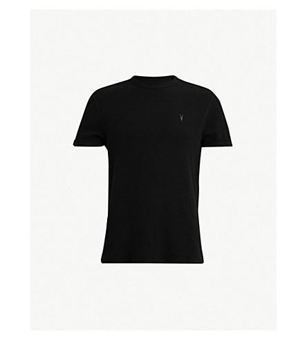 ALLSAINTS Clash waffle-knit cotton T-shirt (Black