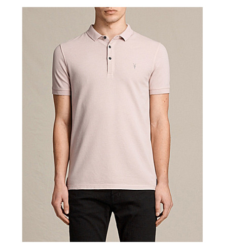 ALLSAINTS Reform cotton-piqué polo shirt (Almond+pink