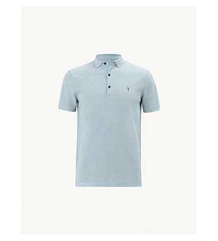 ALLSAINTS Reform cotton-piqué polo shirt (Arbour+blue+ma