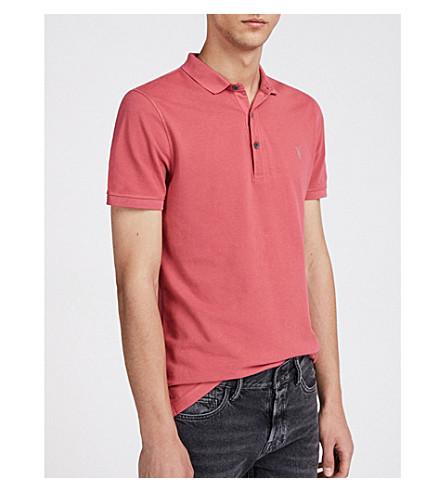 ALLSAINTS Fachada de polo Reform camisa rosa algod�n piqu� qcqaTBxUw