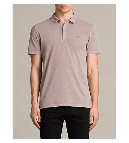 ALLSAINTS Ossage cotton-piqué polo shirt (Dusk+pink