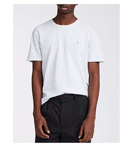 ALLSAINTS jersey algodón Lattice azul de Ossage camiseta fqxgwfrpC