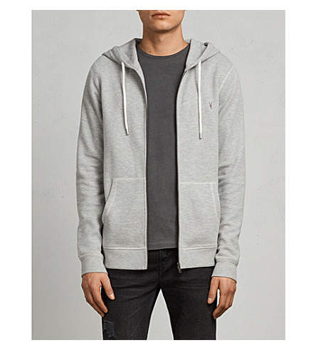 ALLSAINTS Kruse cotton-blend hoody (Grey+marl