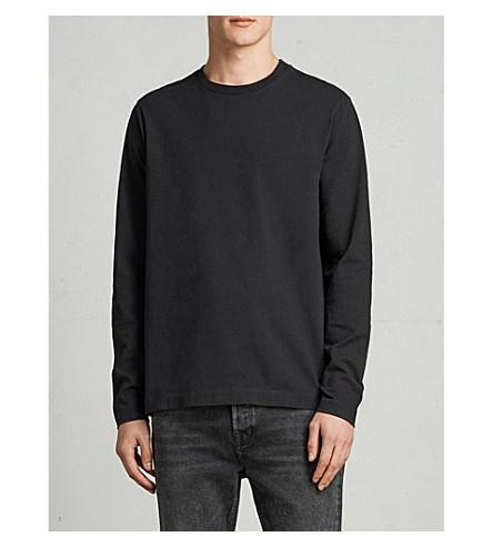 ALLSAINTS Monta crewneck cotton-jersey top (Black