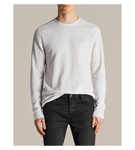 ALLSAINTS Clash cotton-jersey top Light grey Cheap How Much Extremely Cheap Online Discount Factory Outlet Professional UGjrHQf