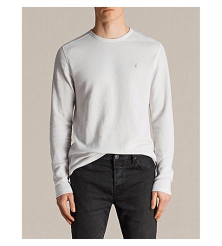ALLSAINTS algodón claro punto de de Top gris jersey OCzxZq6Hxw