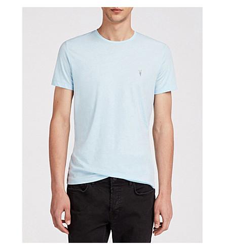 ALLSAINTS 3 pack cotton-jersey T-shirts (Blue/chalk/gre