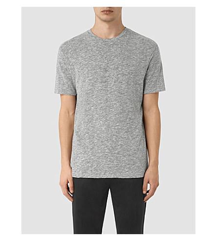 ALLSAINTS Schans marl-effect jersey T-shirt (Charcoal+marl