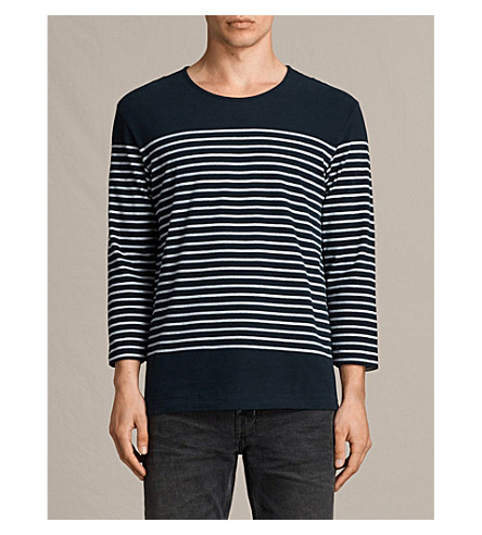 ALLSAINTS Nimlana striped cotton top (Ink+navy/grey