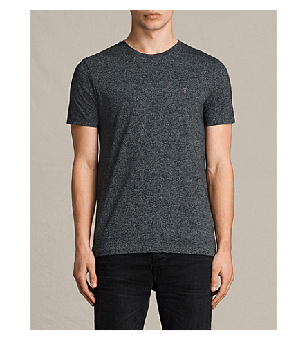 ALLSAINTS Tonic crewneck striped T-shirt (Jet+black