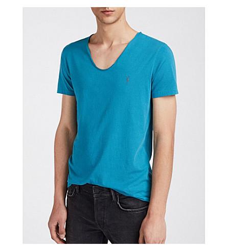 Camiseta ALLSAINTS de jersey de Arco algodón azul tónica RxFqd1