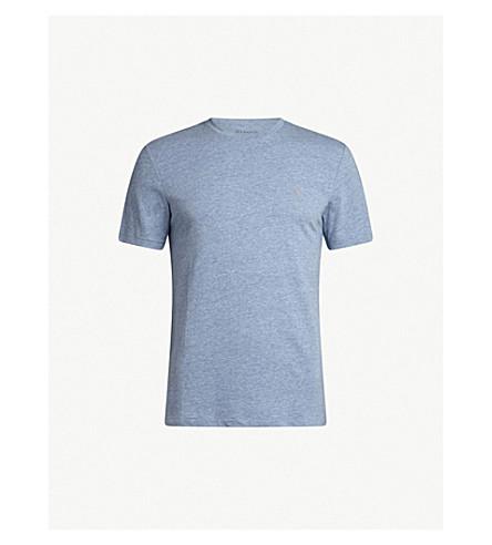 ALLSAINTS 滋补圆领平纹针织棉 T 恤 (水 + 蓝 + 石灰泥
