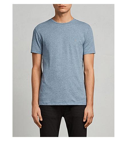 ALLSAINTS Tonic crewneck cotton-jersey T-shirt (Aqua+blue+marl