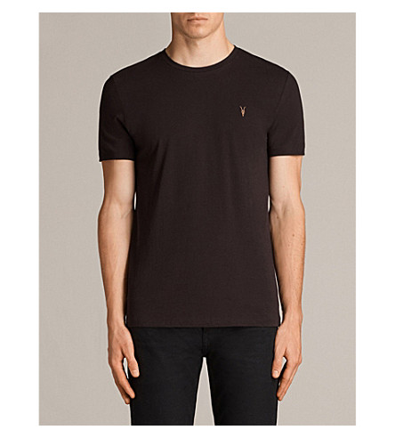 ALLSAINTS Tonic crewneck cotton-jersey T-shirt (Aubergine+red
