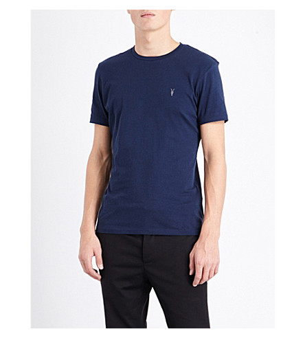 ALLSAINTS Tonic crewneck cotton-jersey T-shirt (Baltic+blue