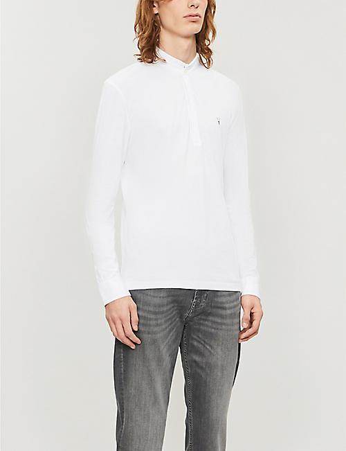 ALLSAINTS Grail cotton-jersey polo shirt