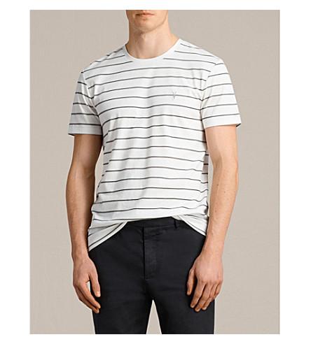 ALLSAINTS Tonic striped cotton-blend T-shirt (Chalk+white/bl