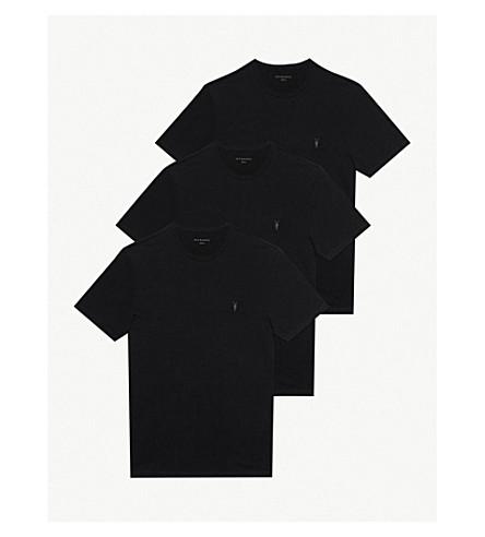 ALLSAINTS Brace tonic pack of three cotton-jersey T-shirts (Black+black+bl