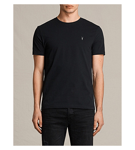 ALLSAINTS Brace tonic pack of three cotton-jersey T-shirts (Black/charcoal