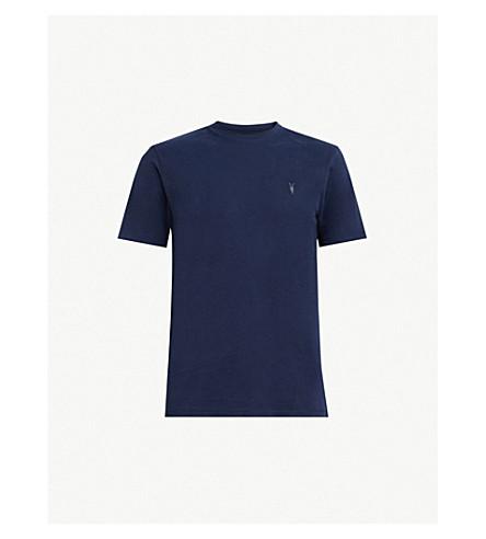 ALLSAINTS 支撑圆领平纹针织棉T 恤(北极 + 蓝色
