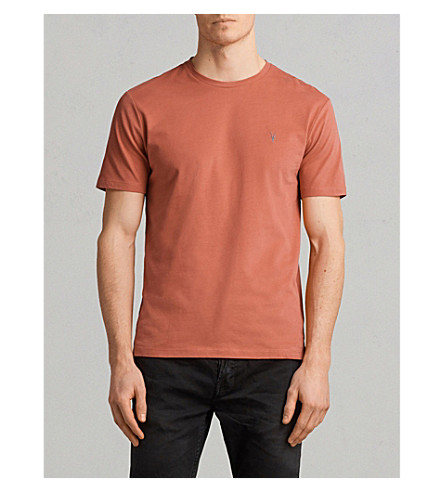 ALLSAINTS Brace crewneck cotton-jersey T-shirt (Block+red