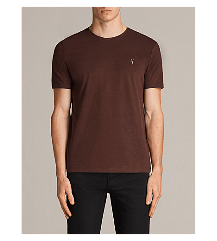 ALLSAINTS Brace crewneck cotton-jersey T-shirt (Burnt+red