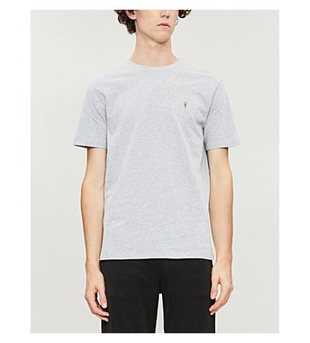 T ALLSAINTS marl ALLSAINTS shirt jersey Brace crewneck cotton Grey Brace crewneck SqSwE0UO1x