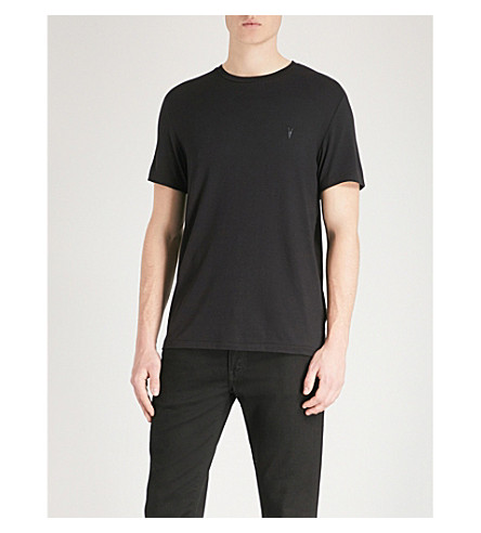 ALLSAINTS Pack of 3 logo-detail jersey T-shirts (Black/charcoal