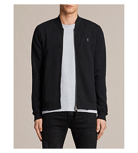 ALLSAINTS Raven cotton-jersey jacket (Black