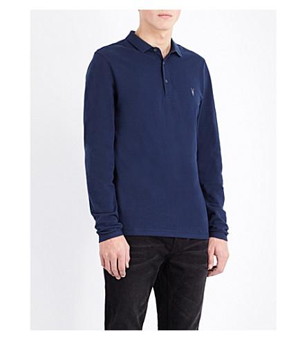 ALLSAINTS Reform cotton-piqué polo shirt (Baltic+blue