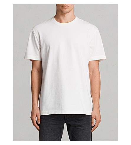ALLSAINTS Monta cotton-jersey T-shirt (Chalk+white