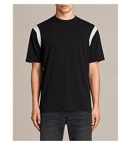 ALLSAINTS Solen jersey T-shirt (Black/chalk