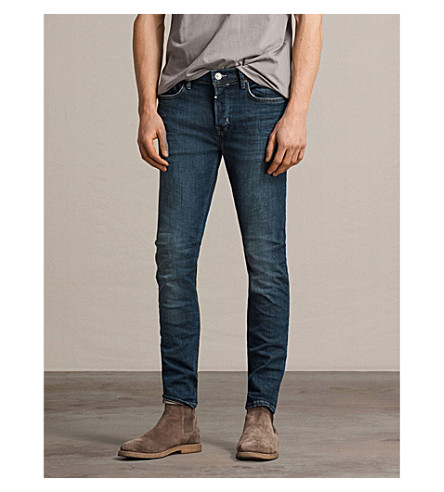 ALLSAINTS Isotope cigarette-fit skinny jeans (Mid+indigo