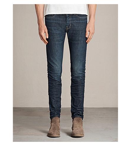 ALLSAINTS Inagawa cigarette-fit tapered jeans (Mid+indigo+blu