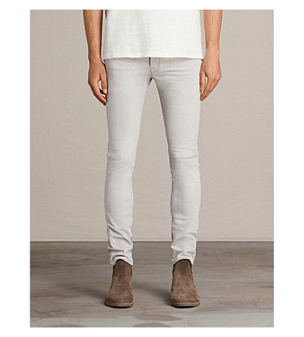 ALLSAINTS Gokase slim-fit skinny jeans (Light+grey