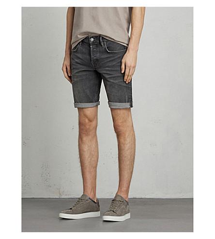 ALLSAINTS Genesee Switch slim-fit denim shorts (Grey